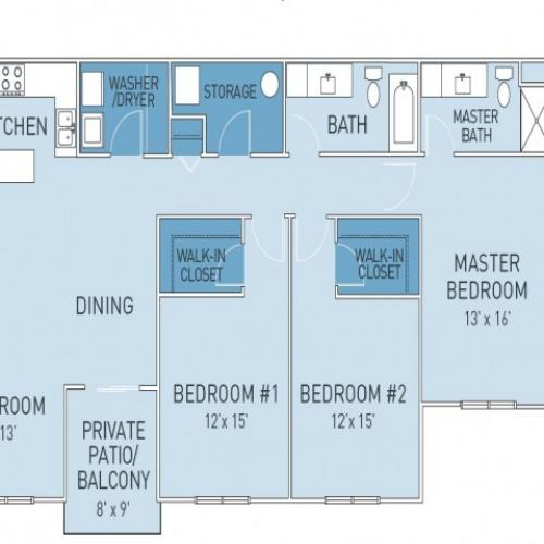 Floor Plan 7 | Ridge45 Apartments