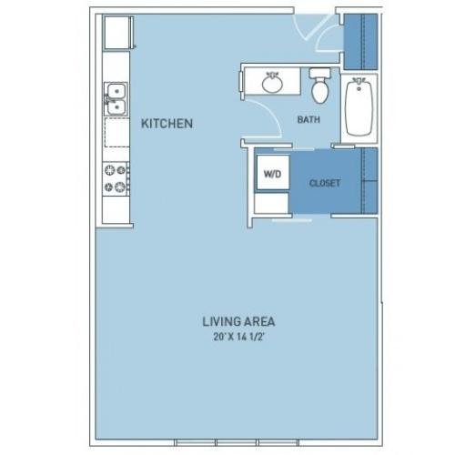 Floor Plan 1 | Trailside45 Apartments