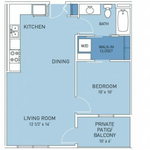 Floor Plan 2 | Trailside45 Apartments