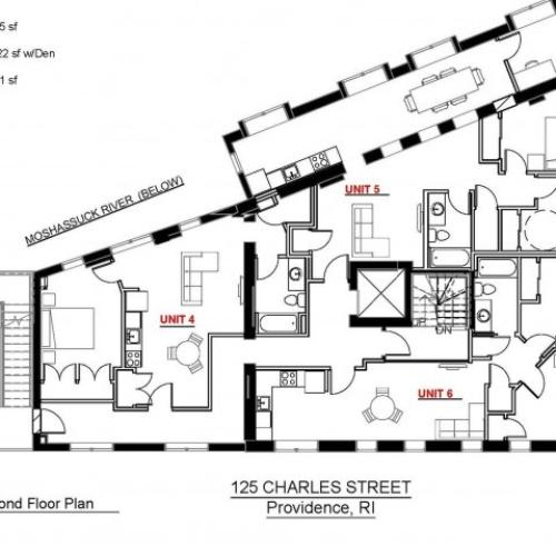 1x1 Second Floor 585 sf