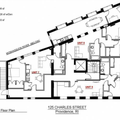 2x1 Third Floor 683 sf