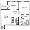 A2S: 1 Bedroom, 1 Bathroom; 858sqft