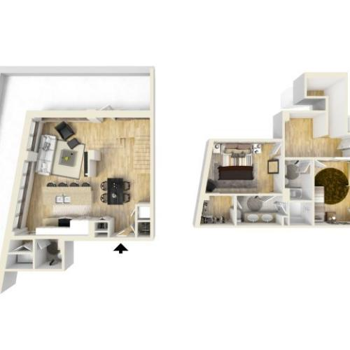 2 Bedroom Floor Plan | The Strand2