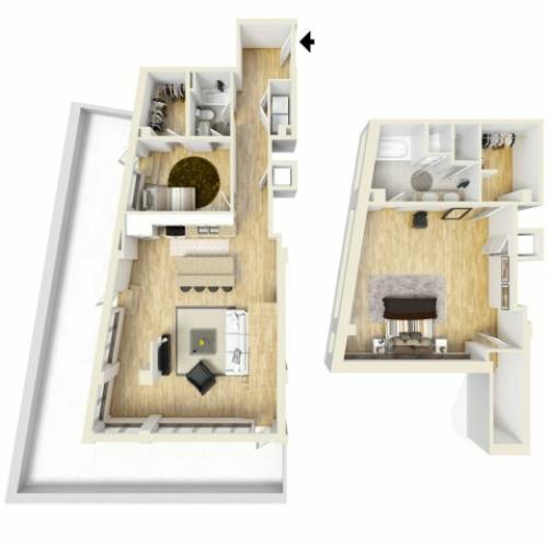 2 Bedroom Floor Plan | The Strand3