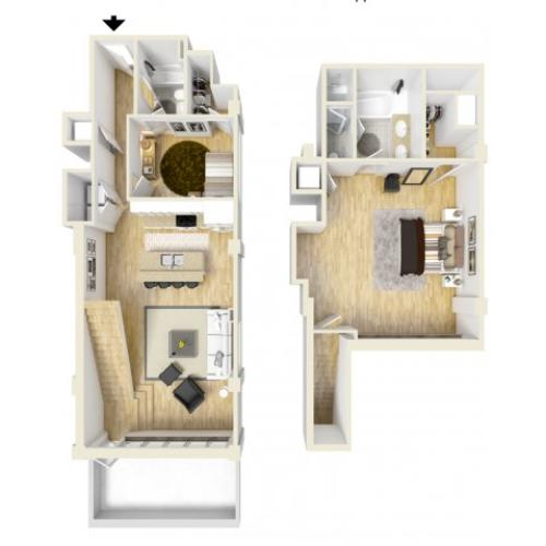 2 Bedroom Floor Plan | The Strand3