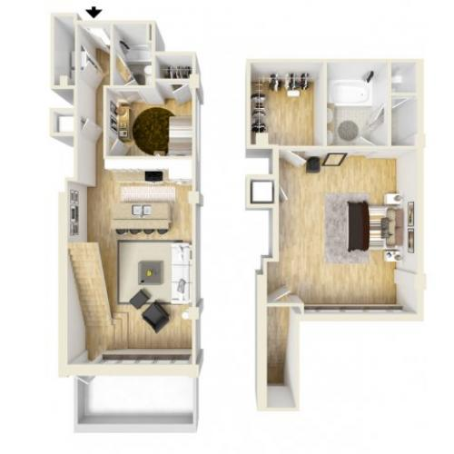 2 Bedroom Floor Plan | The Strand4