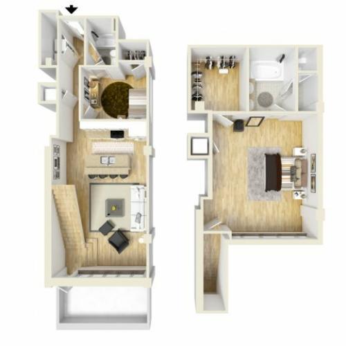 2 Bedroom Floor Plan | The Strand4