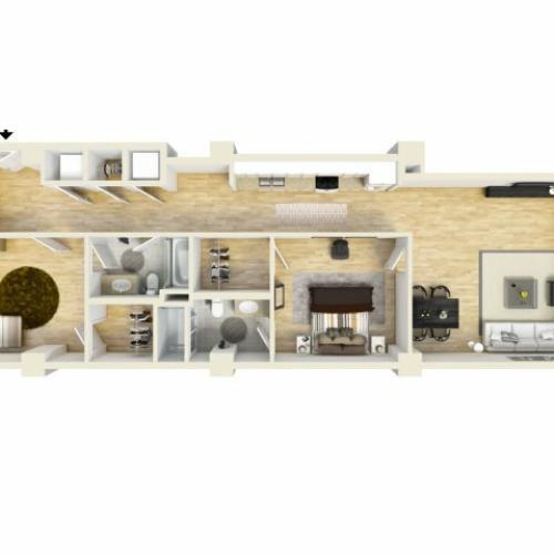 2 Bedroom Floor Plan | The Strand