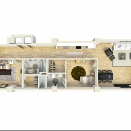 2 Bedroom Floor Plan | The Strand5