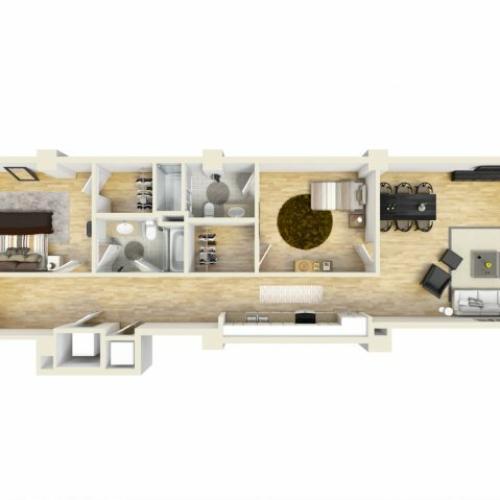 2 Bedroom Floor Plan | The Strand6