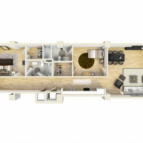 2 Bedroom Floor Plan | The Strand8