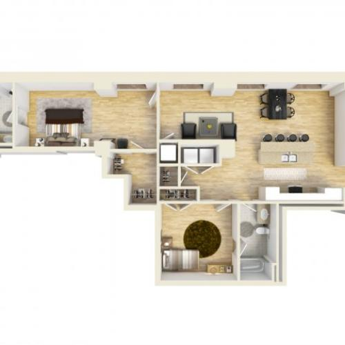2 Bedroom Floor Plan | The Strand7