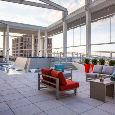 Sitting area for Rooftop Pool