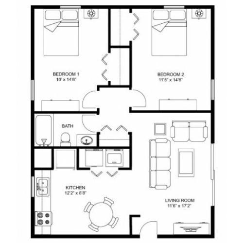 Walnut Grove Apartments: 2 Bed / 1 Bath Apartment In Oregon WI