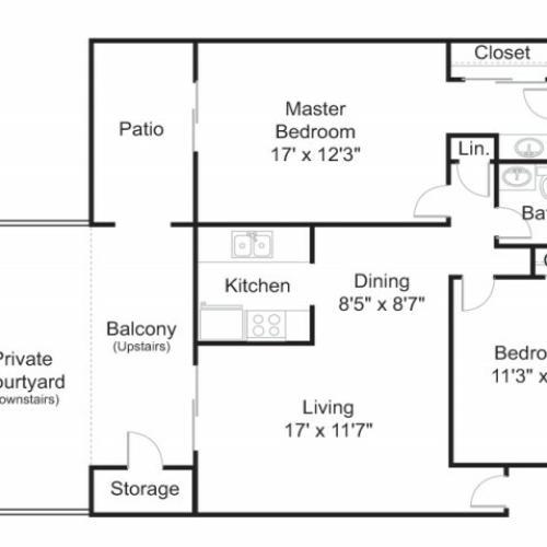 Floor Plan 4 | Apartments In Tucson | Brookwood