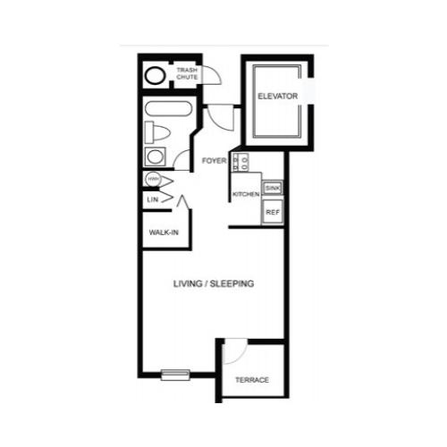 Floor Plan 5 | Apartment In Hollywood FL | Emerald Place