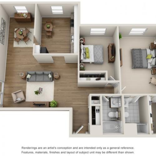 Floor Plan 6   Apartments in Mount Prospect Illinois   The Residences at 1550