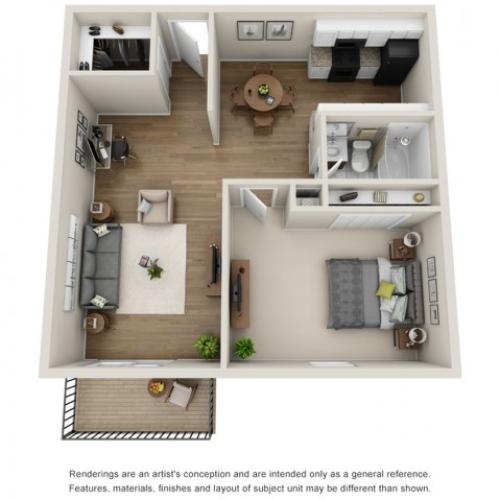 Floor Plan 4   Apartments for Rent Mt Prospect Il   The Residences at 1550