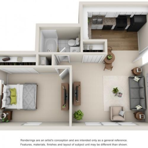 Floor Plan 3   Apartments for Rent in Mount Prospect   The Residences at 1550