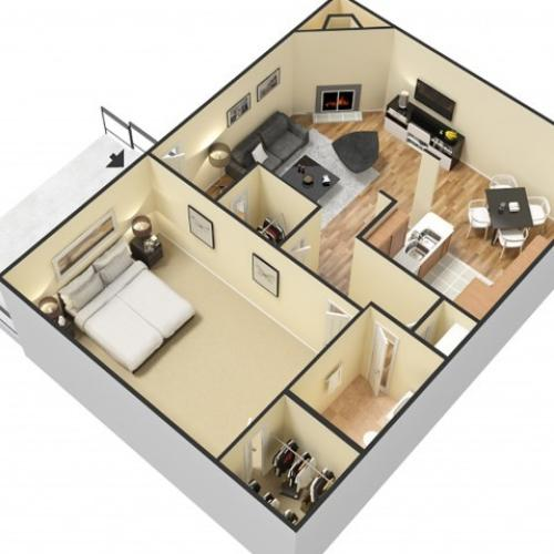 Floor Plan 1 | Apartments In North Charleston SC | Plantation Flats