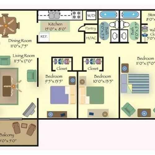 Floorplan 3 | Reserve at Cavalier
