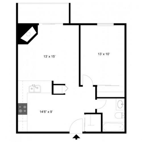 1 Bdrm Floor Plan | Apartments For Rent In Eagan MN | Lexington Hills