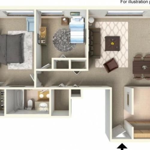 Floor Plan 4  | Bartlett Lake Apartments