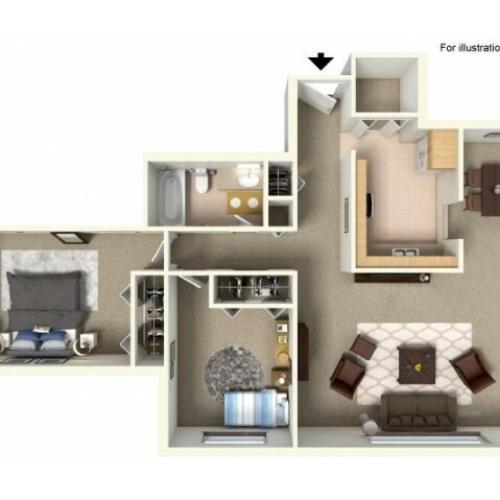 Floor Plan 5  | Bartlett Lake Apartments