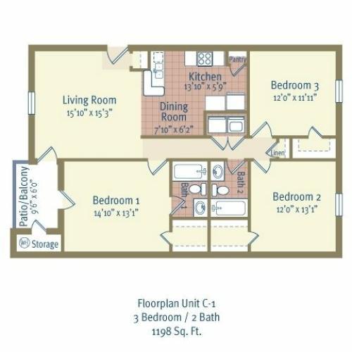 1 Bed / 1 Bath Apartment In BELTON TX