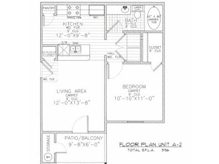 LEGACY LANDING APARTMENTS A-2 Floor Plans