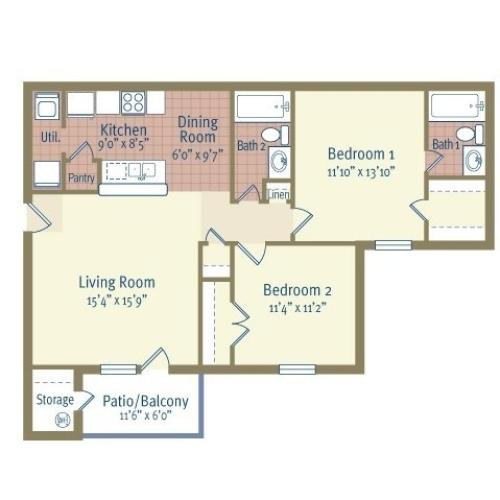 Colonial Crossing Apartments Apartments: 1 Bed / 1 Bath Apartment In BELTON TX