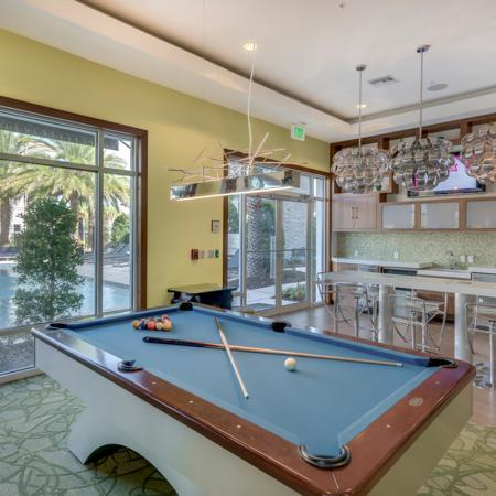Image of The Marq's Playroom with billiards table and lounge area