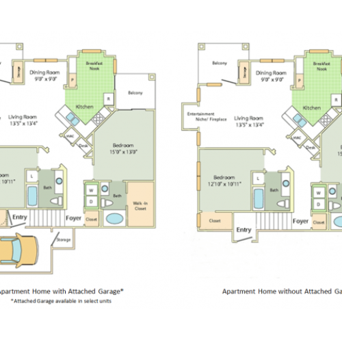 Pembury Floor Plan | 2 Bedroom with 2 Bath | 1336 Square Feet | Cason Estates  | Apartment Homes