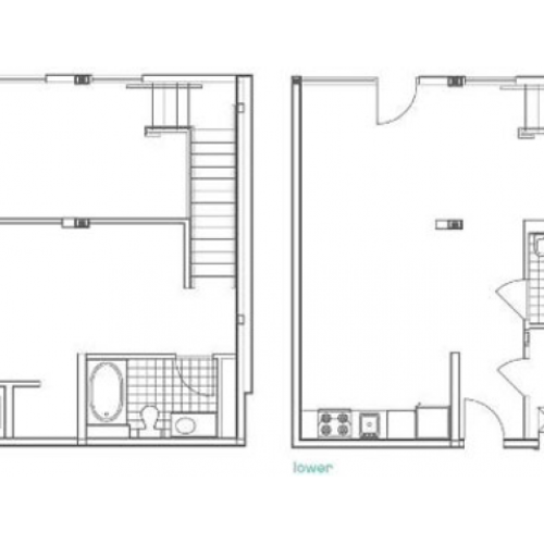 W1 Defoors 1 Bedroom Apartment Floorplan at 935M