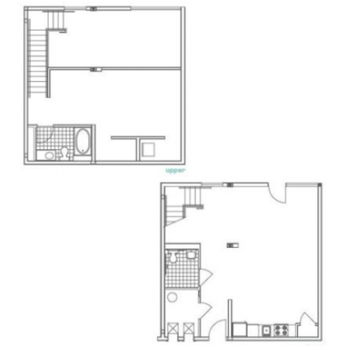 W3 Luckie 1 Bedroom Apartment Floorplan at 935M