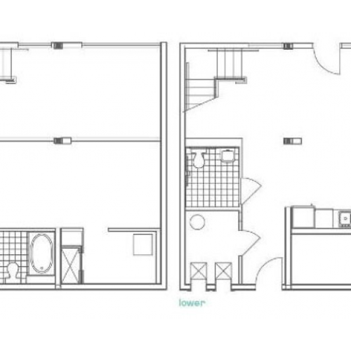 W11 Defoors Alternate 1 Bedroom Apartment Floorplan at 935M