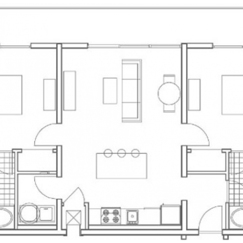 B3 Wheeler 2 Bedroom Apartment Floorplan at 935M