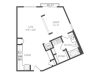 The Singer Floor Plan | 1 Bedroom with 1 Bath | 810 Square Feet | Cottonwood Westside | Apartment Homes