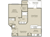Grant Renovated Floor Plan | 1 Bedroom with 1 Bath | 843 Square Feet | Retreat at Peachtree City | Apartment Homes