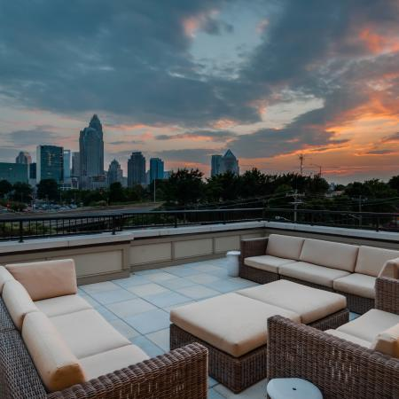 Alpha Mill Three Sky Lounges with Uptown Views