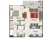 1A Floor Plan | 1 Bedroom with 1 Bath | 806 Square Feet | Heights at Meridian | Apartment Homes