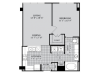A1 Floor Plan | 1 Bedroom with 1 Bath | 690 Square Feet | McKinney Uptown | Apartment Homes