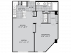 A4 Floor Plan | 1 Bedroom with 1 Bath | 768 Square Feet | McKinney Uptown | Apartment Homes