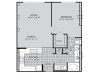 A6 Floor Plan | 1 Bedroom with 1 Bath | 836 Square Feet | McKinney Uptown | Apartment Homes