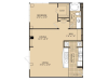 A10 Floor Plan | 1 Bedroom with 1 Bath | 935 Square Feet | McKinney Uptown | Apartment Homes