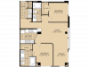 B2 Floor Plan | 2 Bedroom with 2 Bath | 1074 Square Feet | McKinney Uptown | Apartment Homes