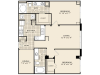 B5 Floor Plan | 2 Bedroom with 2 Bath | 1153 Square Feet | McKinney Uptown | Apartment Homes