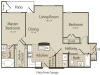 The St. James Floor Plan | 2 Bedroom with 2 Bath | 1015 Square Feet | Enclave on Golden Triangle | Apartment Homes