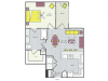 A13a Floor Plan | 1 Bedroom with 1 Bath | 732 Square Feet | Routh Street Flats | Apartment Homes