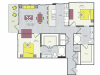 B3b Floor Plan | 2 Bedroom with 2 Bath | 1115 Square Feet | Routh Street Flats | Apartment Homes